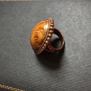 Stephen Dweck Beaded Resin Bronze Ring